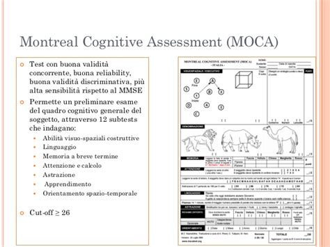 moca test italiano montreal cognitive assessment