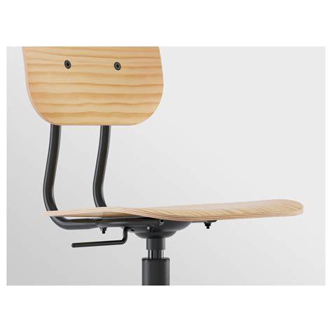 ikea swivel desk chair kullaberg swivel chair pine black ikea