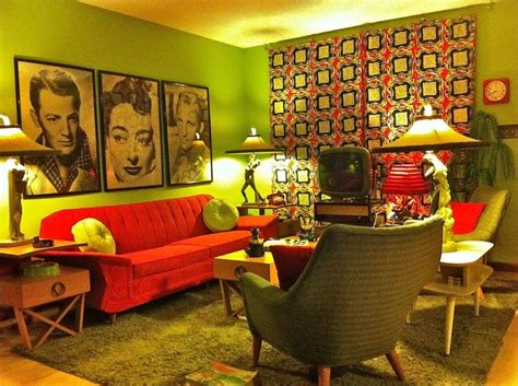 Retro Room Decor 68 Best Images About 1950s Living Room On Kitsch Mid Century Modern And Retro
