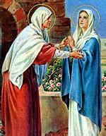 imagen de la virgen maria visitando a su prima isabel misterios gozosos del santo rosario