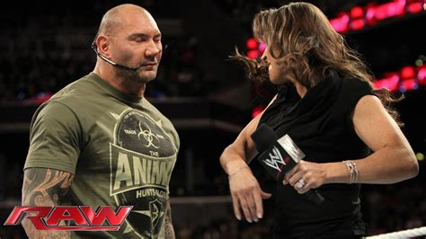 stephanie mcmahon batista and randy orton argue about