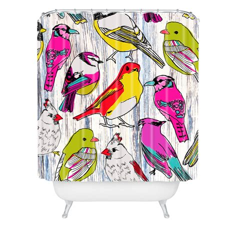 Deny Shower Curtain Couture Home Birds Shower Curtain By Deny Designs