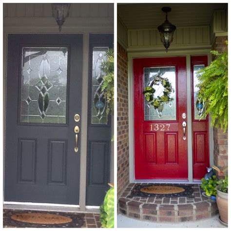 front door before and after front door before and after my house pinterest
