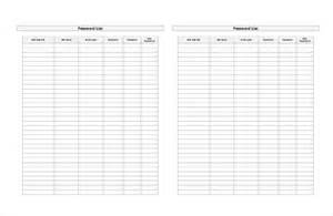 password spreadsheet template 9 password spreadsheet templates free sle exle