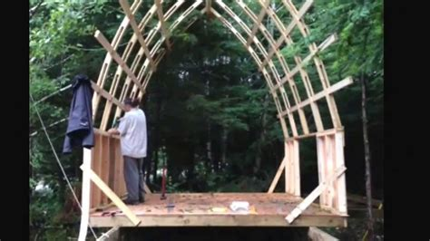 Building Plans Images by Bow Roof Cabin Cheap Strong And Light Weight Youtube