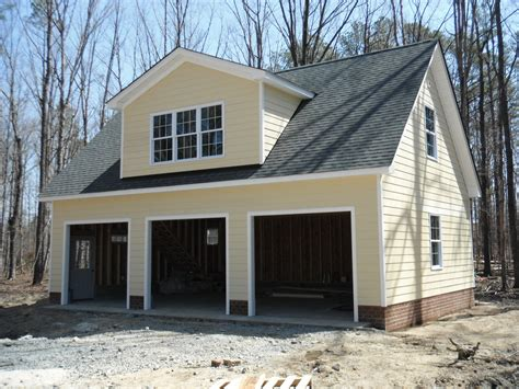 garage cement siding is completed at new 36 x 24 garage
