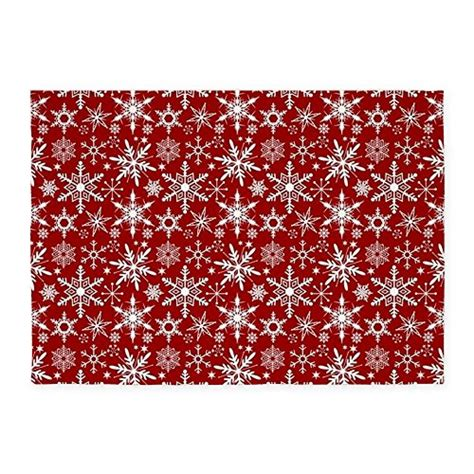 cafe press rugs cafepress snowflakes pattern decorative area rug 5 x7 throw rug 5ive dollar market