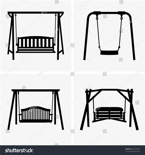 Swing Outline Exle by Porch Swings Stock Vector 242146747