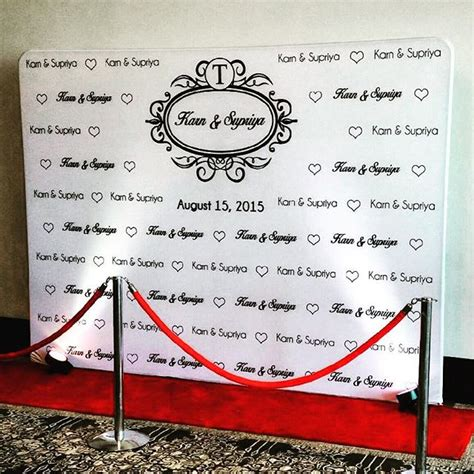 Wedding Backdrop Logo by Carpet Logo Backdrop