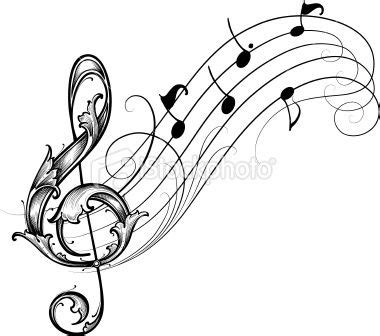 music staff tattoo designs designed by a engraver leafy treble clef and
