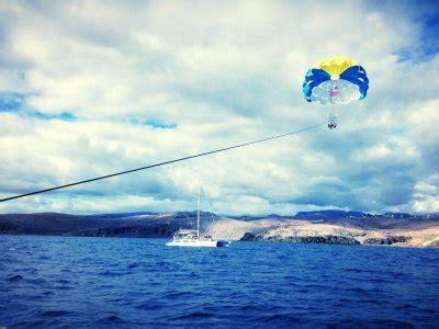 blue spirit catamaran gran canaria parascending en gran canaria parasailing en gran canaria