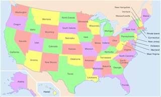 us map of the states map of america