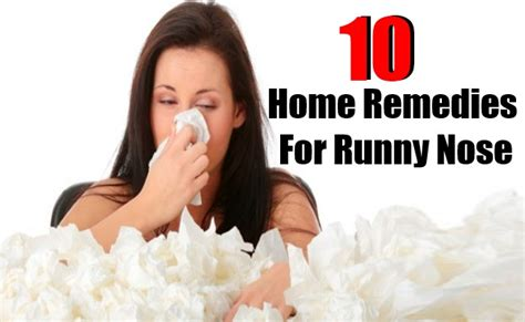 10 home remedies for runny nose diy health remedy