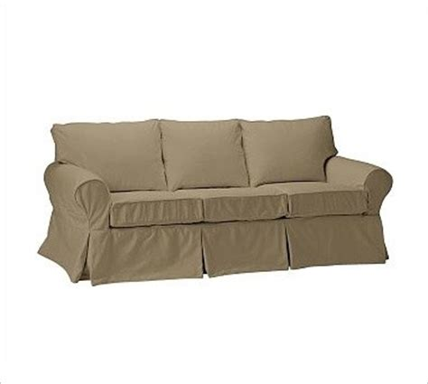 pb basic sofa slipcover pb basic sleeper sofa slipcover brushed canvas sage