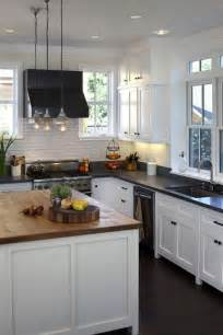 black and white tile kitchen ideas butcher block counter tops design ideas