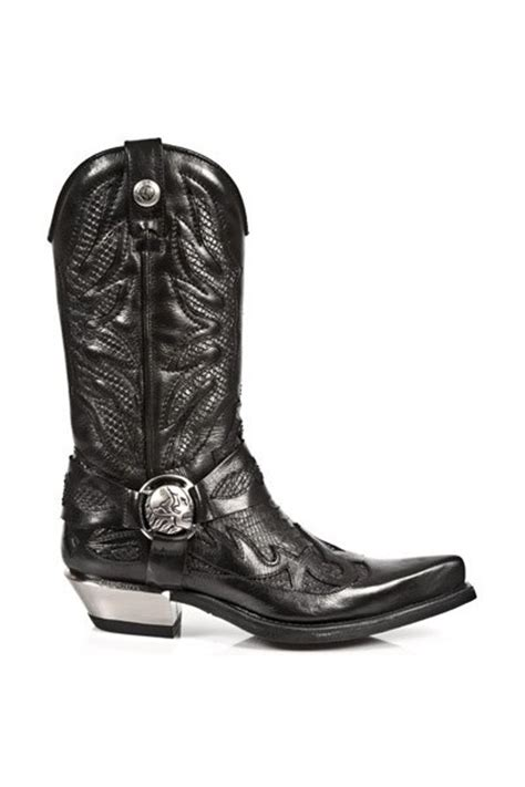 Longch Cuir Leather S Original original black snakeskin leather cowboy boots western
