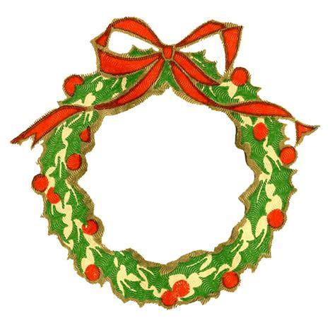 vintage christmas clip art wreath frame silhouette