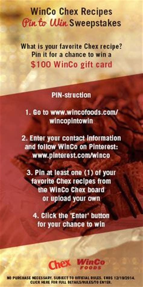 Winco Gift Card - 1000 images about winco pin to win chex 174 mix recipes 2014 on pinterest chex mix