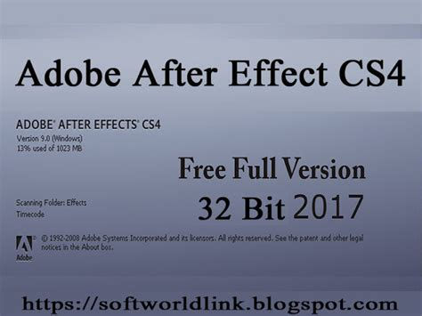 adobe after effect full version gratis adobe after effects cs4 carack full version for 32 bit