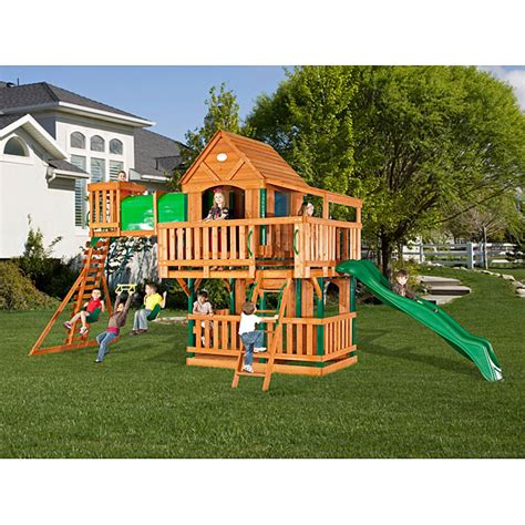 lowest price backyard discovery woodridge ii playset