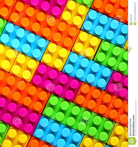 Block Print Wallpaper by Colorful Children Lego Brick Toy Background Stock Photo