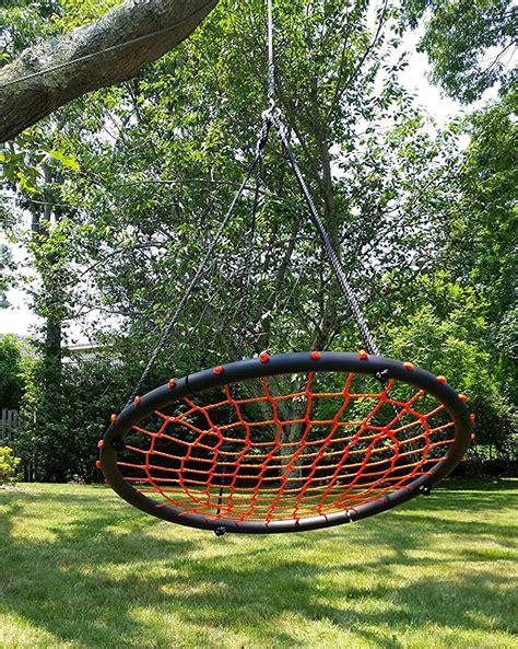 nest swings 100cm orange round spider web nest swing heavenly hammocks