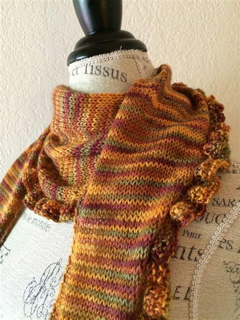 knitting pattern ruffle scarf katy ruffle edge scarf free knitting pattern blog nobleknits