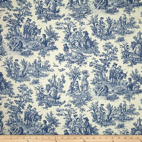 toile upholstery fabric waverly charmed life toile cornflower discount designer
