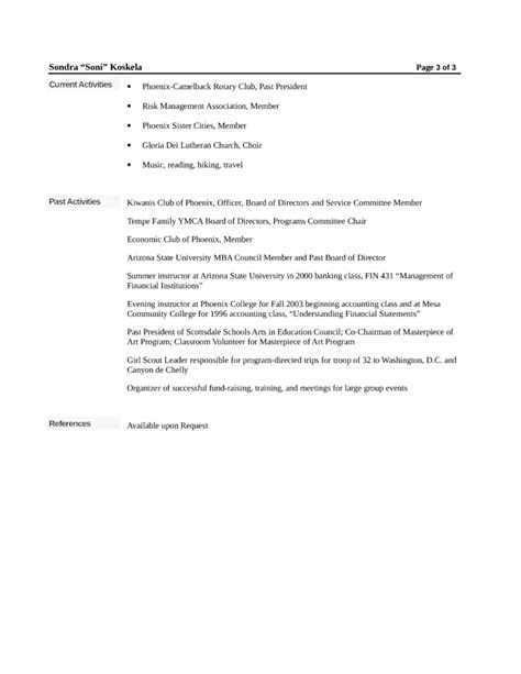 Loan Officer Resume by Chronological Loan Officer Resume Exle Template Page 3