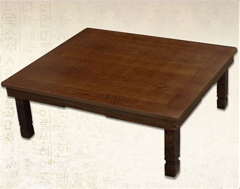 Korean Folding Table by Korean Table Folding Leg Rectangle 90 75cm Coffee Color