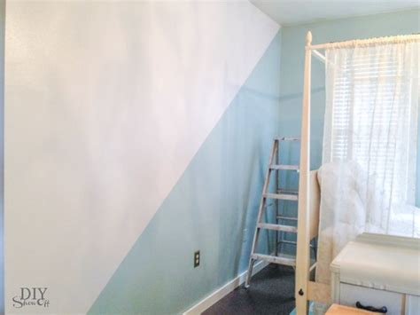 painting walls guest room nursery diagonal wall paint refresh diy show