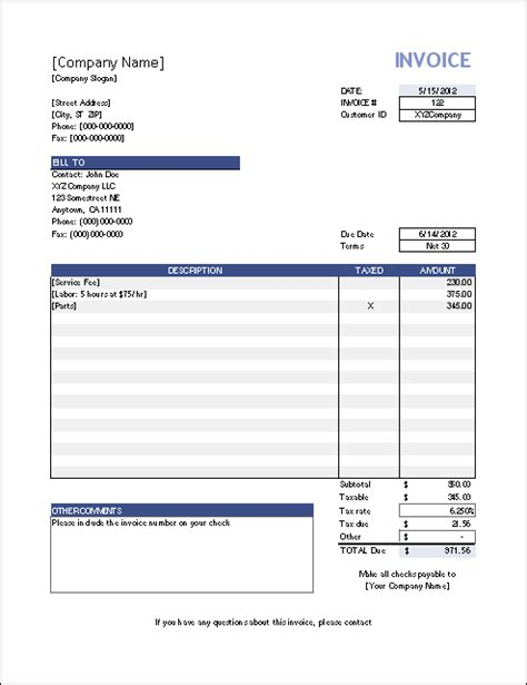 Invoice Template For Excel by Vertex42 Invoice Assistant Invoice Manager For Excel