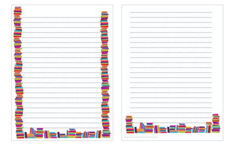 book week notepaper writing sheets free early years