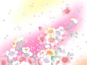 sweet flower styles backgrounds for presentation ppt