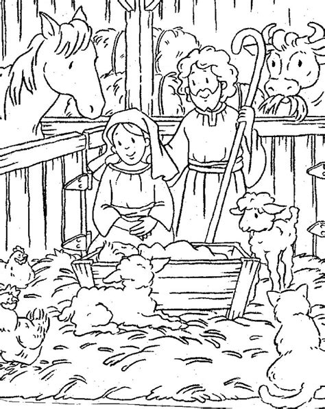 Nativity Coloring Pages Download | free printable nativity scene coloring pages nativity
