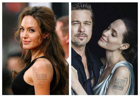 tattoos de angelina jolie y su significado tatuajes de angelina jolie lo que nadie te ha contado