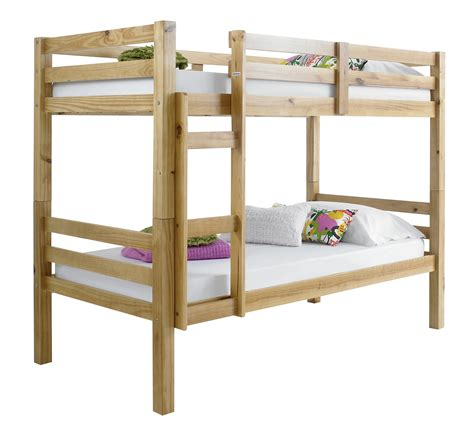 Solid Wood Bunk Bed Betternowm Co Uk Solid Pine Wood Bunk Bed With 2 X Mattresses
