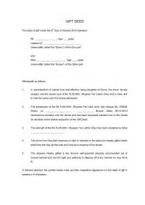 Deed Of Gift Letter Uk Gift Deed Sle