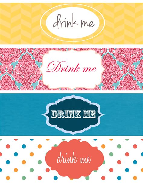 printable drink labels day 25 printable bottle label etiqueta para botella