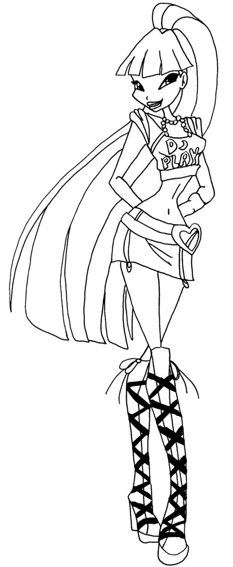musa winx coloring pages download and print for free