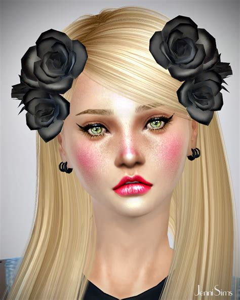 sims 4 cc hair accessories jennisims downloads sims 4 sets of accessory flowers for