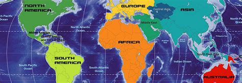 australia continent map continents of the world africa the americas asia