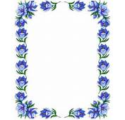 Pics Photos  Flower Frame Border Blue Flowers