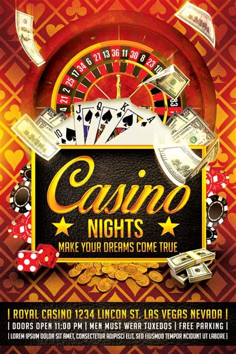 casino flyer template psd download xtremeflyers