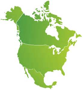 map of us canada and mexico