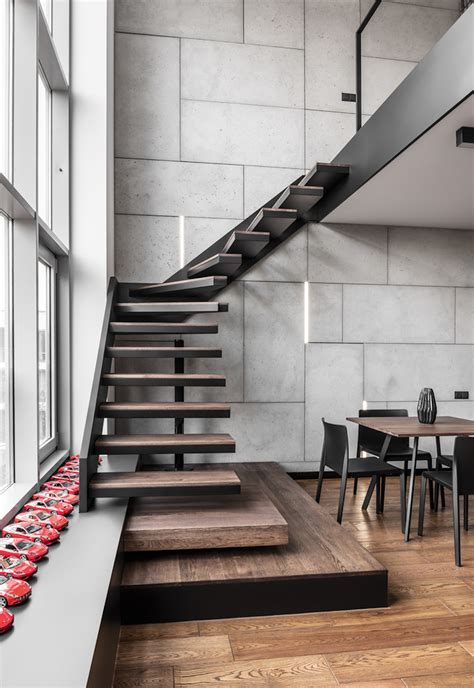 Apartment Stairs Design A Masculine Apartment Enriched With Personal Collections