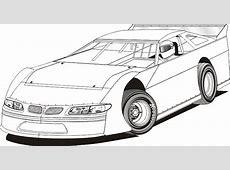 Dirt Track Stock Car Clip Art