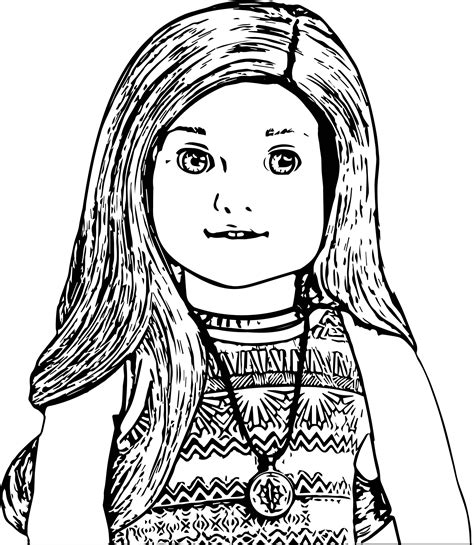 american doll coloring pages american doll lea closeup coloring page wecoloringpage