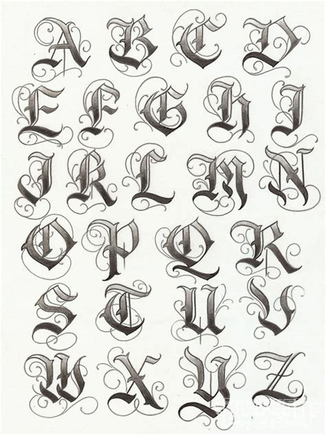 gothic tattoo alphabet gangster tattoo fonts alphabet sketch coloring page
