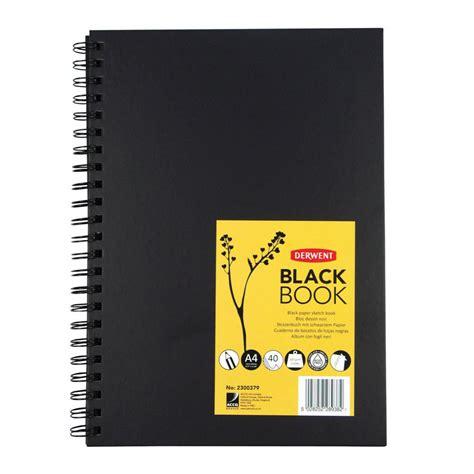 sketch book hardback derwent hardback sketch book portrait a4 black staples 174